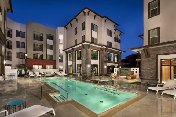 Swimming Pool With Relaxing Sundecks at Metro Gateway, Riverside, CA, 92503