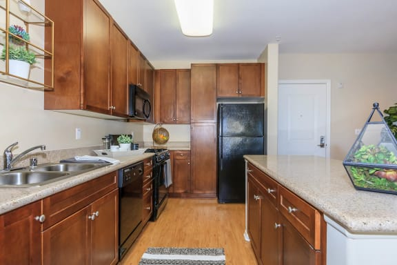 Updated Kitchen at Meridian Place, California, 91324