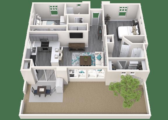 The Retreat Floor Plan at Avilla Heritage, Grand Prairie, TX
