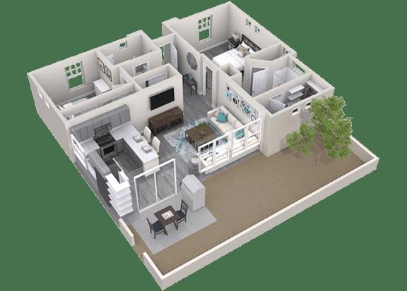 The Retreat Floor Plan at Avilla Camelback Ranch, Phoenix, AZ, 85037