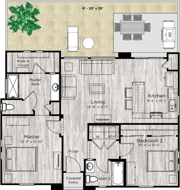 The Retreat Floor Plan at Avilla Meadows, Surprise, Arizona