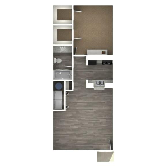 Floor Plan  1 Bedroom | C
