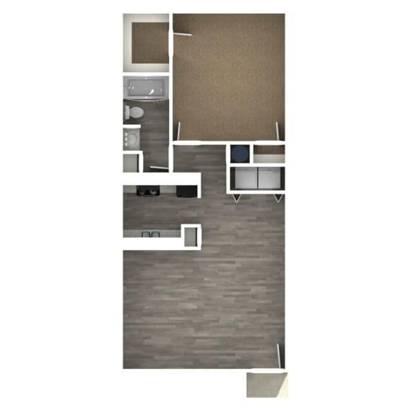 Floor Plan  1 Bedroom | D