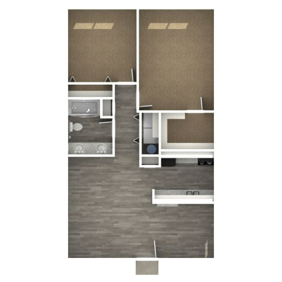 Floor Plan  2 Bedroom | F