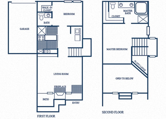 Floor Plan  TH3 floorplan at Tivoli Apartments in Dallas, Texas