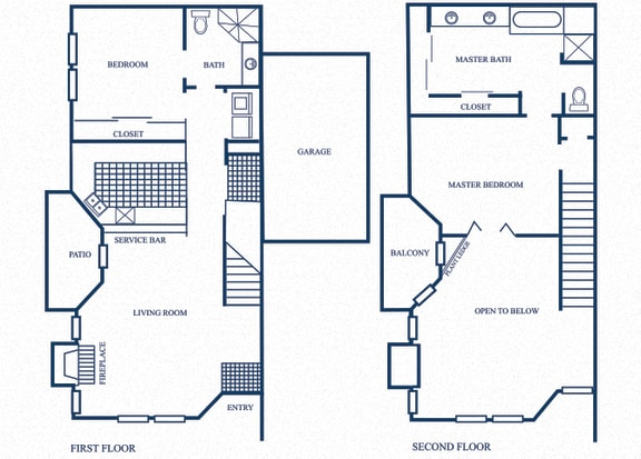 Floor Plan  TH4 floorplan at Tivoli Apartments in Dallas, Texas