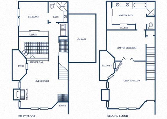 Floor Plan  TH4 floorplan at Tivoli Apartments in Dallas, Texas
