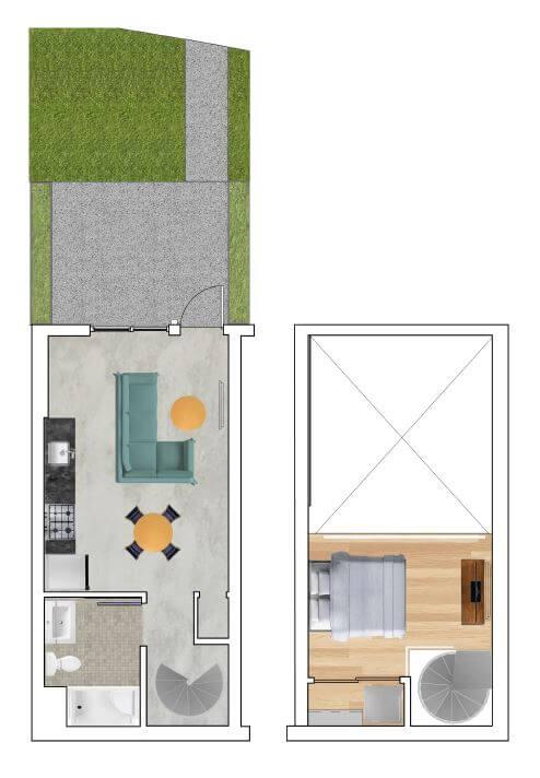 Loft A Floor Plan at Block C, California, 92078