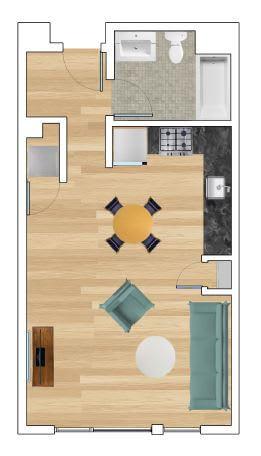 Studio C Floor Plan at Block C, San Marcos, 92078