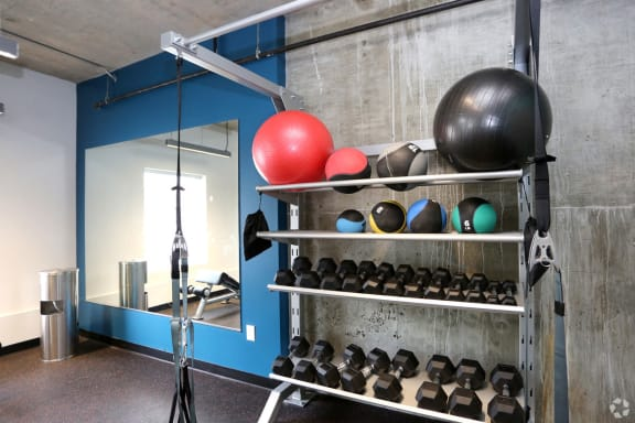 Exercise Equipment In Gym at The George & The Leonard, Georgia