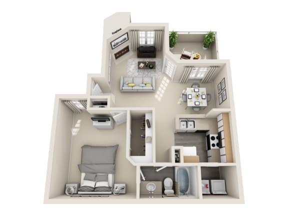 Mead Floor Plan Layout at Village at Desert Lakes, Las Vegas, NV, 89117