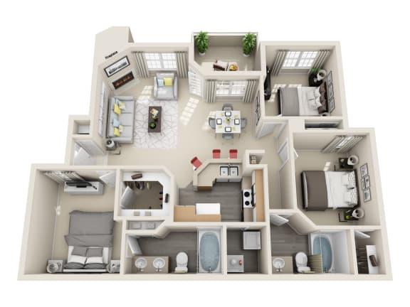 Powell Floor Plan Layout at Village at Desert Lakes, Las Vegas, 89117