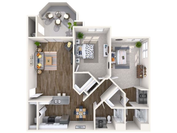 Floor Plan  Diamond Renovated 3D Floor Plan at Biscayne Bay Apartments, Arizona, 85225