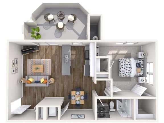Floor Plan  Gem Renovated 3D Floor Plan at Biscayne Bay Apartments, Chandler, Arizona