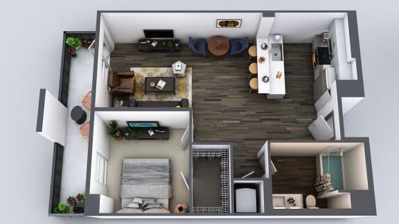Floor Plan  Be DTLA|b1|2x1|757 sf