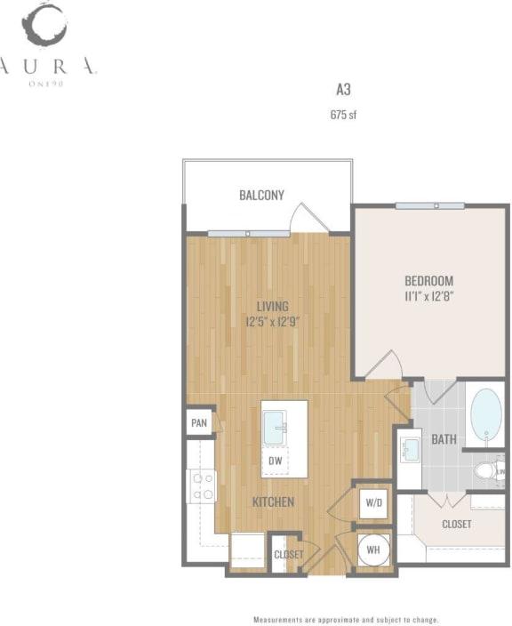 Aura One90 Apartments A3 Floor Plan