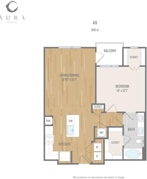 Aura One90 Apartments A9 Floor Plan