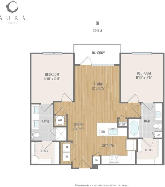 Aura One90 Apartments B1 Floor Plan
