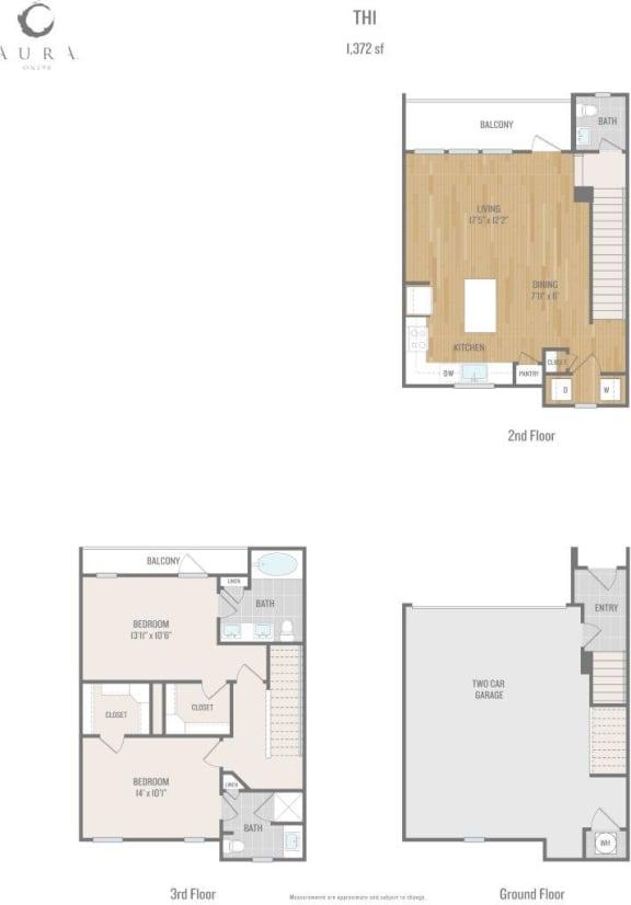 Aura One90 Apartments TH1 Floor Plan