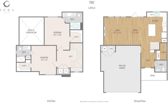 Aura One90 Apartments TH2 Floor Plan