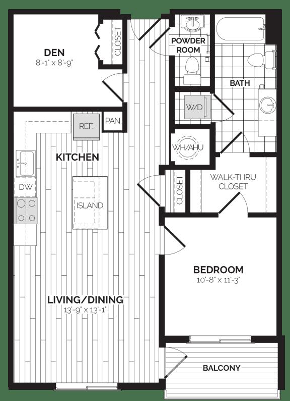 A4 Floor Plan at Rivergate, Virginia