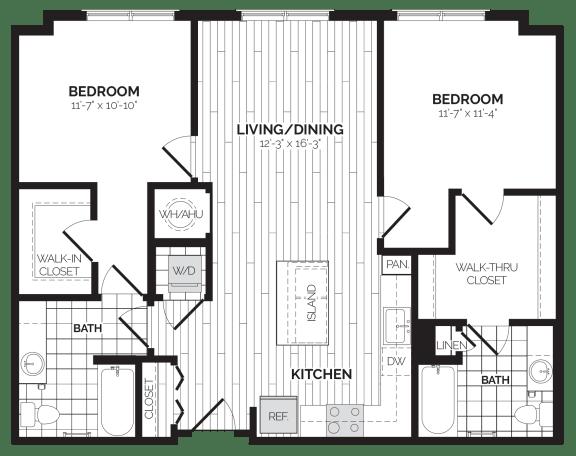 B10 Floor Plan at Rivergate, Woodbridge, Virginia