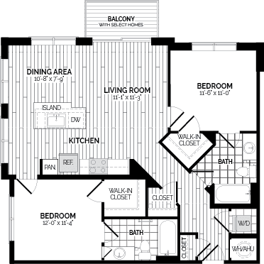 B4 Floor Plan at Rivergate, Woodbridge, VA