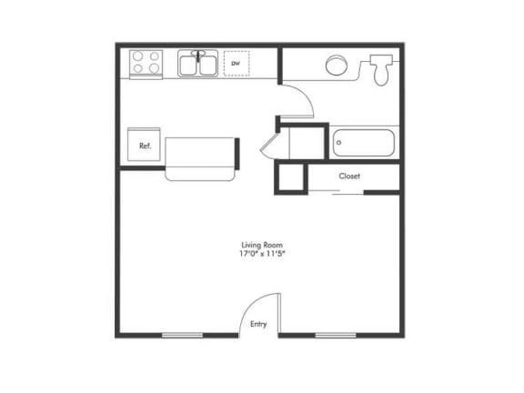 Floor Plan  Studio-Floorplan