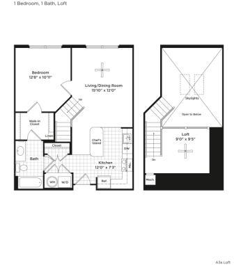 A4al Floor Plan at 800 Carlyle, Virginia