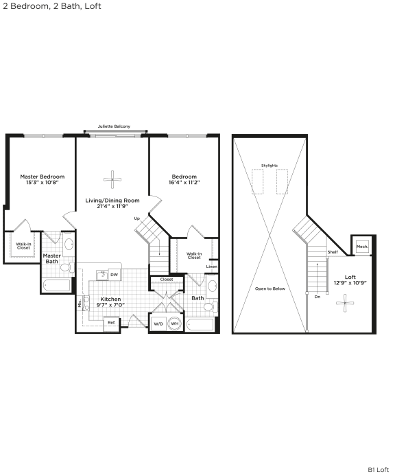 B1bl Floor Plan at 800 Carlyle, Virginia