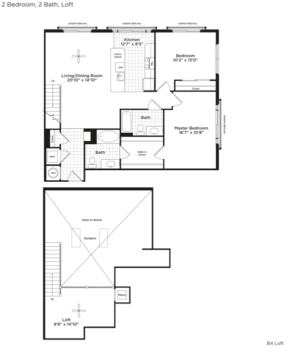 B3bl Floor Plan at 800 Carlyle, Alexandria, Virginia