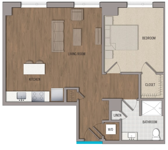 A10 Floor Plan at The George, Maryland, 20902
