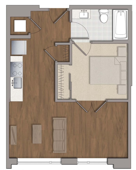 A7 Floor Plan at The George, Wheaton, 20902