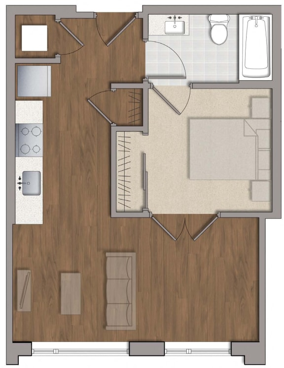 A7 Floor Plan Layout at The George, Wheaton, Maryland