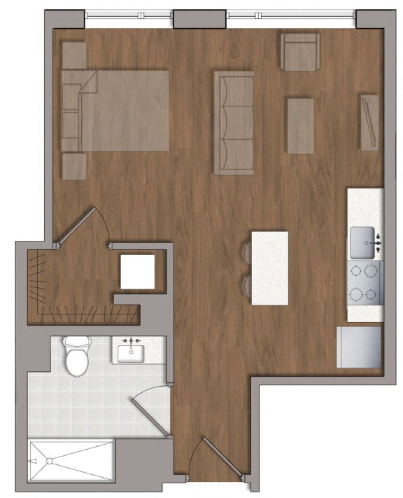 S4 Floor Plan at The George, Maryland