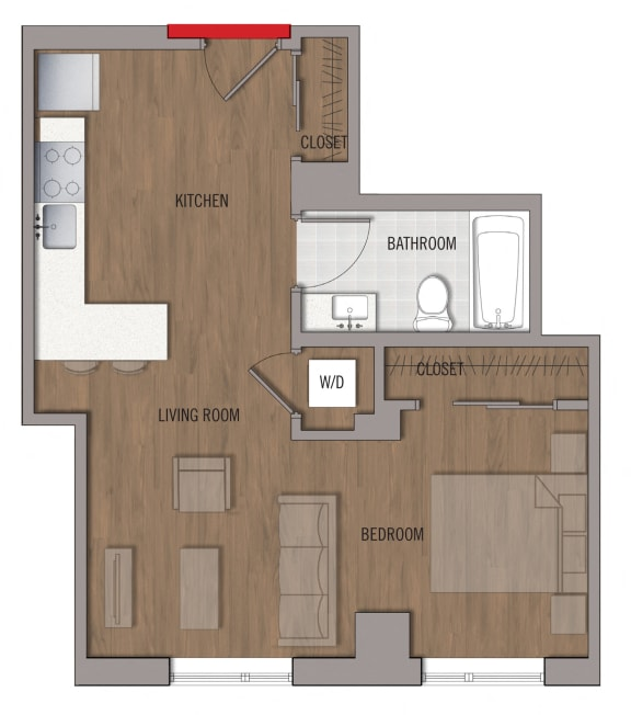 S7 Floor Plan at The George, Wheaton, 20902
