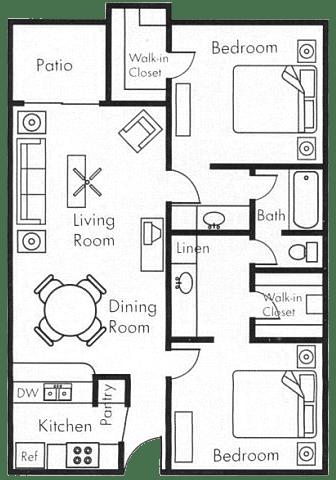 Floor Plan  2x1 B