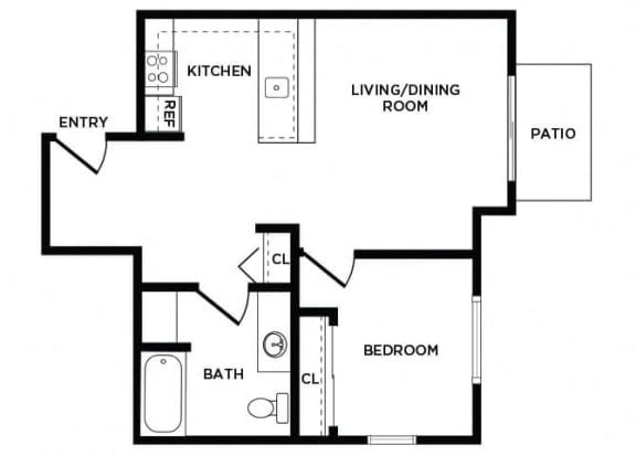 Floor Plan  A10 at Lakewood Meadows Apartments in Lakewood WA