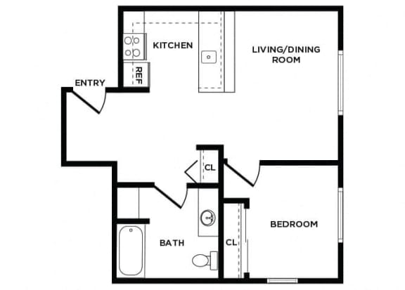 Floor Plan  A8 at Lakewood Meadows Apartments in Lakewood WA