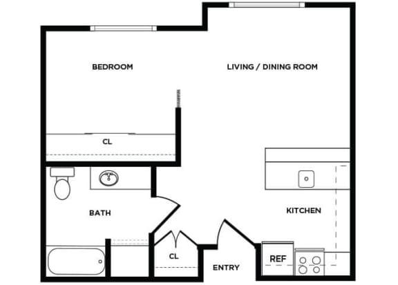 Floor Plan  A5 floor plan at Boardwalk Apartments