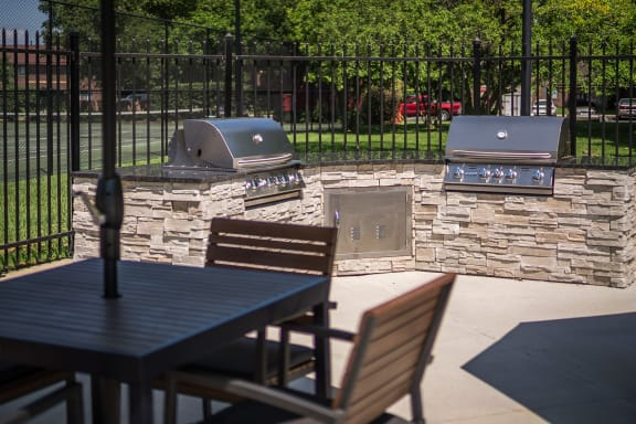 Grilling Station at Woodbridge Apartments, Louisville, Kentucky