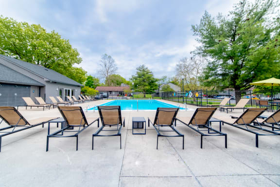 Private Swimming Pool at Woodbridge Apartments, Louisville, KY