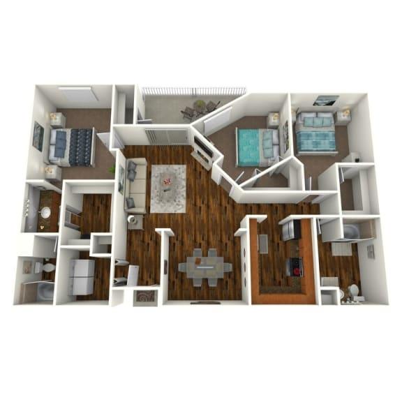The Altitude at Blue Ash Palms Three Bedroom Floor Plan