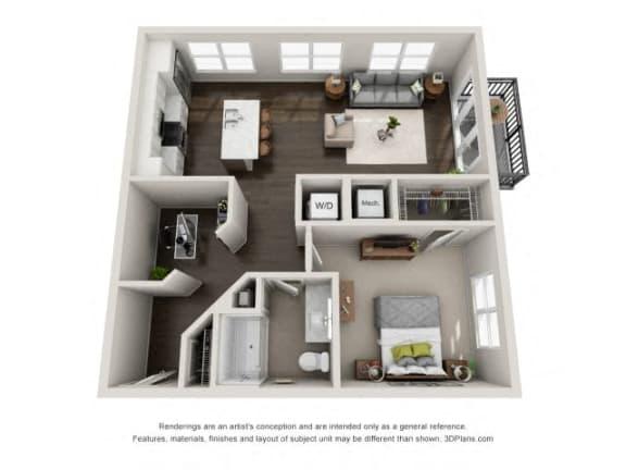 Floor Plan  A5 Floor Plan at Marq on Main, Illinois, 60532