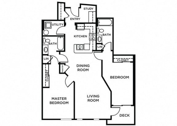 Bainbridge Floor Plan at The Pacifica, Washington, 98409