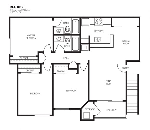 Floor Plan  Three Bedroom