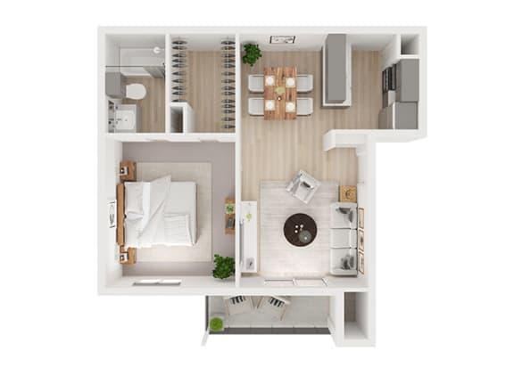 A Floor Plan at Toro Place Apartments, CLEAR Property Management, Houston, TX, 77035