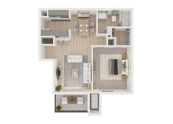 B Floor Plan at Toro Place Apartments, CLEAR Property Management, Houston, TX