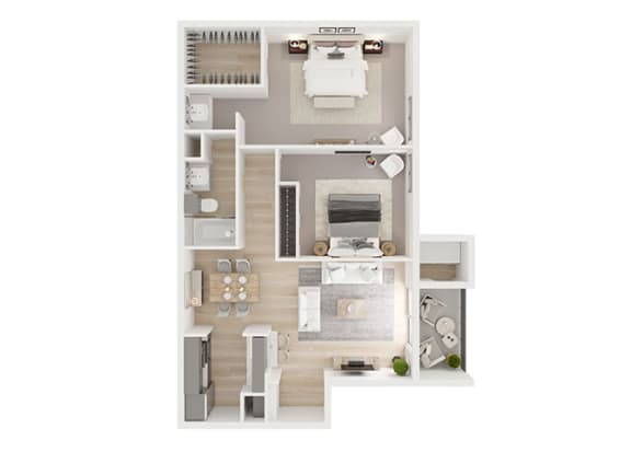 E Floor Plan at Toro Place Apartments, CLEAR Property Management, Houston