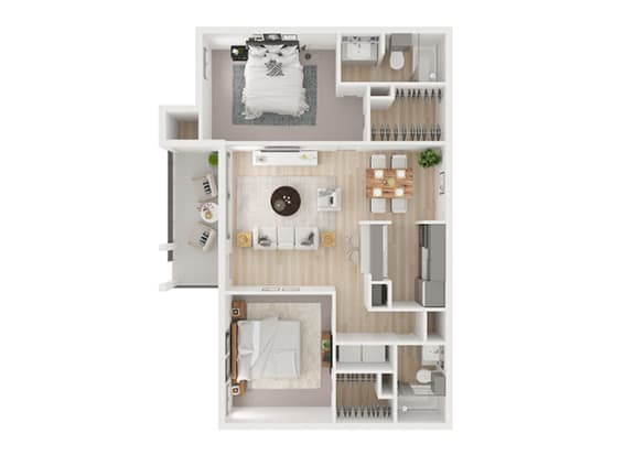 F Floor Plan at Toro Place Apartments, CLEAR Property Management, Texas
